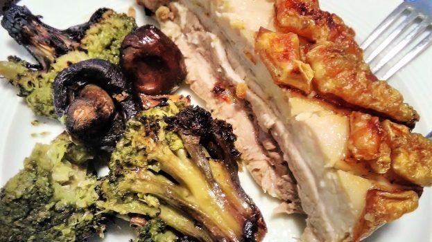 Crispy pork belly & vegetables