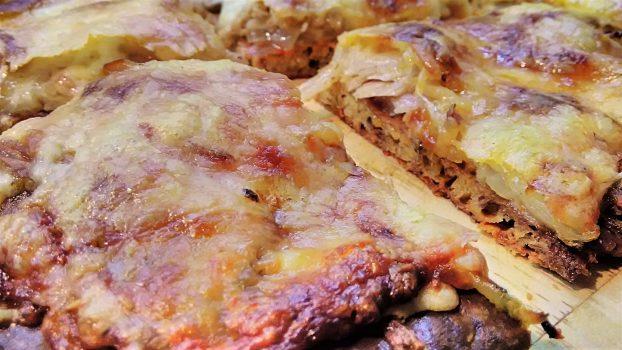 Cheese Crust Fathead Pizza