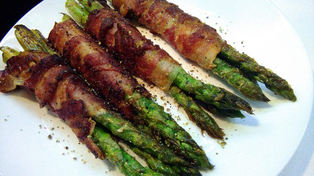 Bacon Wrapped Green Asparagus