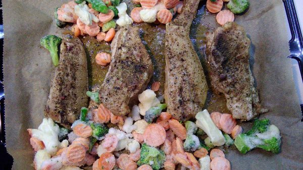 Precooked Pork Tails And Frozen Vegetables