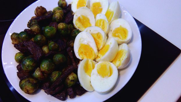Seared Beef Liver With Brussel Sprouts & Eggs