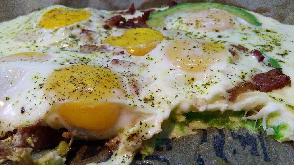 Baked Eggs and Avocado Cross Section