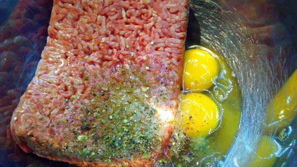 Ground Beef with Eggs & Seasonings