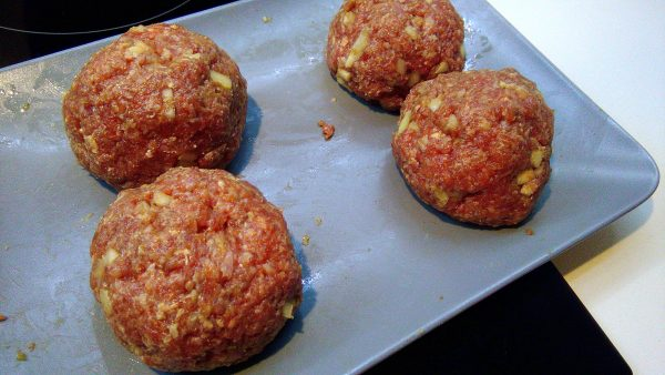 Shrimp Stuffed Beef Meatballs