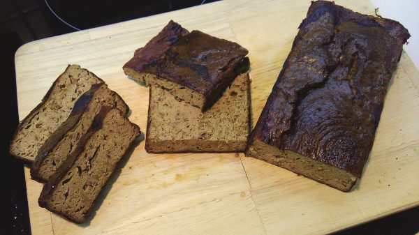 Pork Liver Bread on Cutting Board