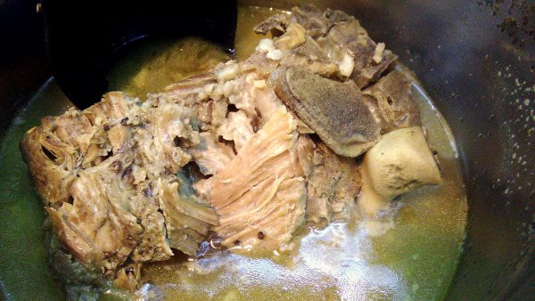 Braised Pork Neck in Pot