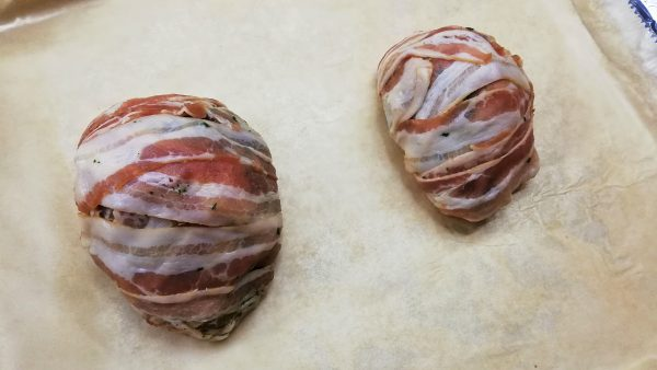 Bacon Wrapped Beef Liver Roulades