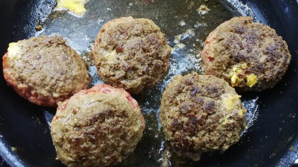 Frying Keto Scotch Eggs