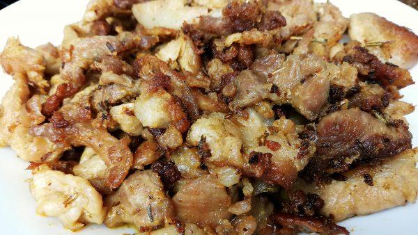 Fried Pork Ham Gyro Close Up 1