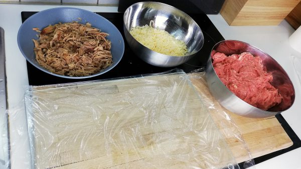 Meat Mixture & Stuffings for Meatloaf with Pulled Pork